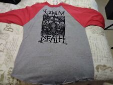 Napalm Death - RARE RED AND GREY LONG SLEEVE Apex Predator Easy Meat Tour JERSEY