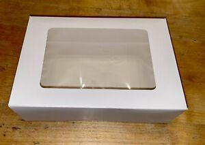 1 WHITE 9.5x6.5x3 INCH BOXES WITH WINDOW, SMALL GIFT BOX, CUP CAKE,BISCUIT,GIFT