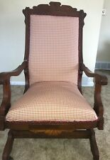 Antique Eastlake Walnut Platform Rocking Chair; Very Good condition!