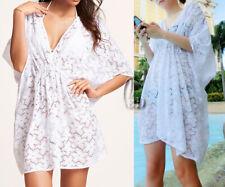 AU SELLER Women SZ 8-16 Lace Tunic Kaftan Top Bikini Cover Up Beach Dress sw038