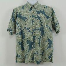 Cooke Street Honolulu Green Hawaiian Reverse Print Camp Shirt Size M