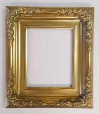 """Picture Frame- 8x10"""" Ornate Gold Color- Corner Flourishes- Wood/Gesso- GLASS B6G"""