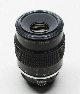 Nikon Micro-Nikkor 105mm f/4 AI Mount Manual Focus Macro Lens