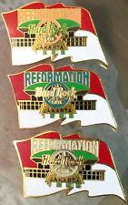 Hard Rock Cafe JAKARTA 1998 Reformation Flag PEACE 3 PIN Set HRC #3769 - #3771