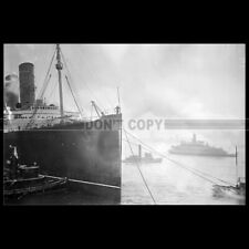 Photo B.000671 RMS LUSITANIA CUNARD LINE PAQUEBOT OCEAN LINER