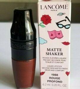 Lancome Matte Shaker Limited Edition Lipstick Lipstain 1988 Rouge Profond