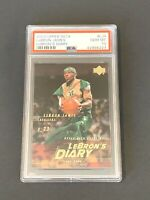 2003 Upper Deck LeBron James LeBron's Diary #LJ4 ROOKIE CARD RC PSA 10 GEM MINT