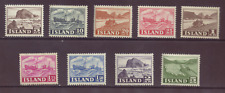 Iceland, part set to 5 kr green, ex SG 296 - 307, MNH/MH, 1950-54