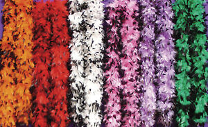 Premium Black Tipped Feather Boas 6 Feet Halloween Bachelorette Costume Party