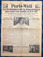 La Une Du Journal Paris Midi 7 Mai 1932 Assassinat De Paul Doumer