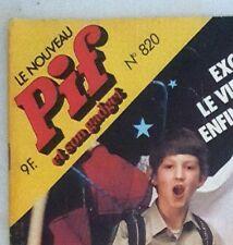 RARE VINTAGE FRENCH COMICS CARTOON MAGAZINE - PIF GADGET #820 (CIRCA 1985)