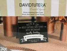 Photo Hashtag Tent Card Table for Wedding / Bridal /Baby Shower - David Tutera