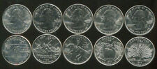 USA US 25 CENT STATE QUARTERS COMPLETED 1999 SET 5 COIN DE PA NJ GA CT UNC