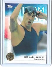 AWESOME 2016 TOPPS OLYMPIC MICHAEL PHELPS GOLD PARALLEL CARD #1 ~ THE GREATEST