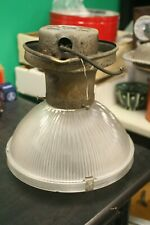 A Holophane 1920s Vintage Industrial Light Used and As Is