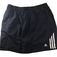 Adidas Climalite Blue/White Striped Training Drawstring Shorts Men's Size L