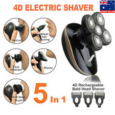 5In1 4D Electric Razor Shaver Waterproof Cordless Trimmer Bald Head Rechargeable