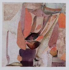 Collage original abstrait surréaliste signé YDH et daté Yvette Dubois Habasque