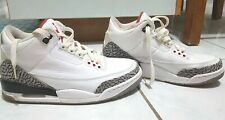 AUTHENTIC Air Jordan 3 Retro White/Fire Red Cement Grey-Black (used only once)