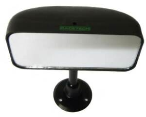 Racetech Kit Car Centre Mirror Swivel Mounted with Flat Glass Black