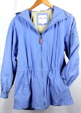 Larry Levine Sport Woman's Jacket with Removable Hood Light Blue Small