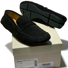 NEW Armani Black Driver's 7 40 Men's Leather Penny Loafers Suede Shoes Casual