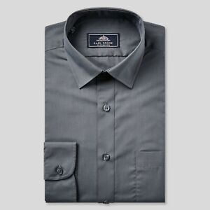 Rael Brook Charcoal Long Sleeve Formal Shirt