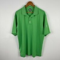 Foot Joy FJ Mens Golf Polo Shirt XL Green Short Sleeve Collared