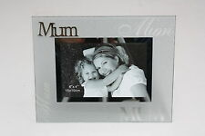 Luxury Frosted Glass / Special Topic Photo frame - ' Mum ' - 4x6 inch / 10x15 cm