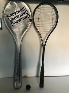 Prince Extender Squash Racket, Browning Case, Ball, Graphite & Fibreglass