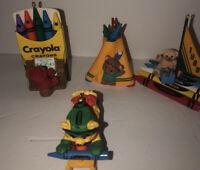 Vintage 80s 90s Binny Smith Crayola Crayon Bear Christmas Ornament Hallmark