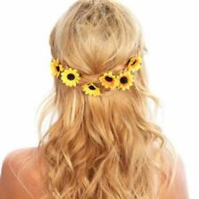 Sunflower Party Daisy Flower Decor Wedding Hair Pins Headpiece Clips Headband