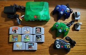 Nintendo 64 Console - Jungle Green Complete Bundle + 8 Games! Pokemon Mario ++