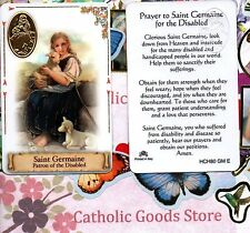 St. Saint. Germaine - Patron of the Disabled - Plastic stock Holy Card