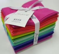 Tula Pink Designer Solids 22 pc Fat Quarter Set 100% Cotton Fabric Free Spirit