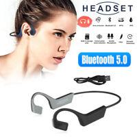 Bone Conduction Headset Wireless Bluetooth 5.0 Outdoor Sport Open Ear Headphones