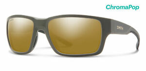 Smith Outback Polarized Bronze Mirror Lens Matte Gravy Frame Sunglasses