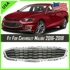For 2016-2018 Chevrolet Malibu Front Bumper Lower Grille Replacement Chrome Look