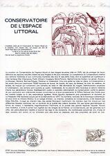 DOCUMENT PHILATELIQUE // CONSERVATOIRE DE L'ESPACE LITTORAL // ROCHEFORT 1981