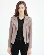 IRO Han Leather Biker Jacket FR 36 UK 8