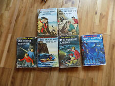 The Hardy Boys Franklin Dixon Lot 6 slipcovers brown end pages Caves Mystery