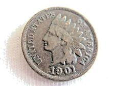 1901 INDIAN HEAD  ONE CENT     .......................... #6.8/10