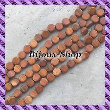 1 Fil de 40 pcs +/- Perles bois Bayong Palet 11 x 5,5 mm +/-