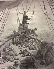 Gustave Doré Anciens Marins Londres 1876 XIX ème Marine Marin Bateau soif eau