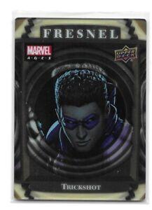 2020 Upper Deck Marvel AGES Fresnel Trickshot 1:75 packs Acetate Card
