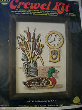 "Needlemagic ""Cattails"" Crewel Embroidery Kit Size 5"" x 7"""