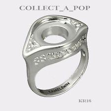 Authentic Kameleon Sterling Silver Crystal Filigree Ring Size 6 KR016#6  RETIRED