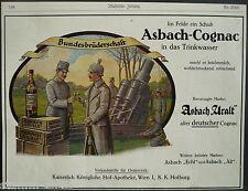 Bundesbrüderschaft,Asbach uralt,Gognac,Weinbrand,Rüdesheim,orig.Anzeige 1915