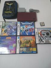 Nintendo DSi XL Bundle W/ 6 Games And Pokemon Case Lot 6A