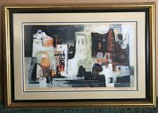 """Framed Signed Numbered Serigraph By Robert E. Wood 1967 """"Impression Of Forio"""""""